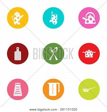 Dote Icons Set. Flat Set Of 9 Dote Vector Icons For Web Isolated On White Background