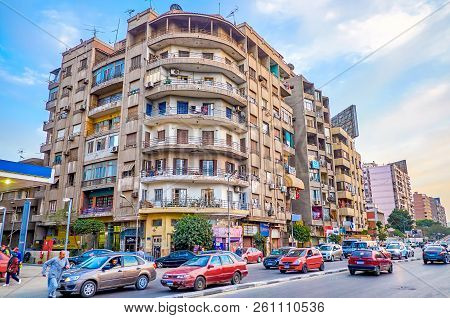 Cairo, Egypt - December 23, 2017: The Typical Housing Of Residential District With Simple Architectu