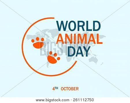 Happy World Animal Day Concept Background. Flat Illustration Of Happy World Animal Day Vector Concep