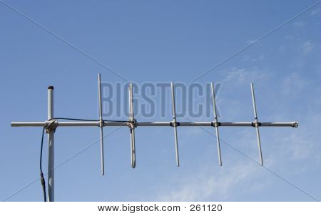 an antenna harkens back to the pre-cable days. poster