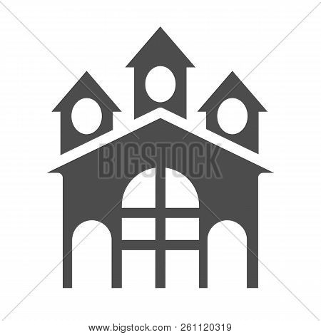 Fort Solid Icon. Castle Vector Illustration Isolated On White. Stronghold Glyph Style Design, Design