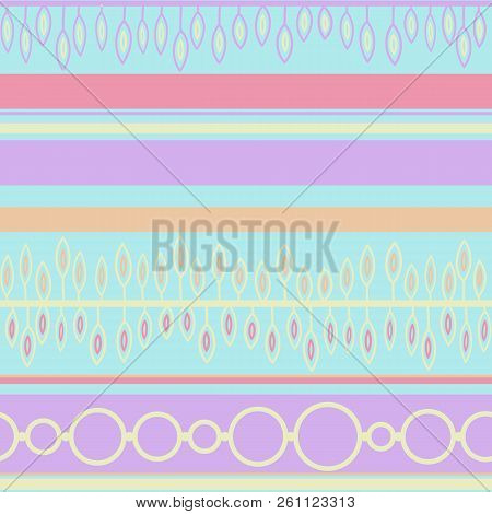 Vector Seamless Graphical Artistic Hand Drawn Ethnic Geometric Patter. Romantic Gentle Ethnically Si