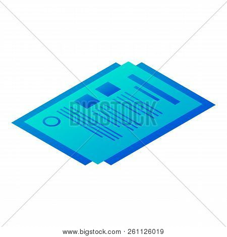 Bill Paper Icon. Isometric Of Bill Paper Vector Icon For Web Design Isolated On White Background