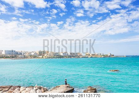 Otranto, Apulia, Italy -  Enjoying Summer And The Skyline Of Otranto In Italy