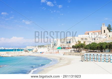 Otranto, Apulia, Italy - Out For A Walk At The Quiet Beach Of Otranto In Italy