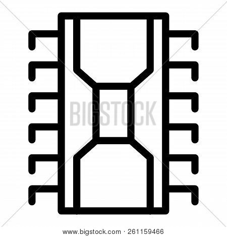 Transistor Line Icon. Chip Vector Illustration Isolated On White. Circuit Outline Style Design, Desi