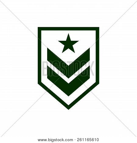 Military Rank Icon Simple Vector Sign And Modern Symbol. Military Rank Vector Icon Illustration