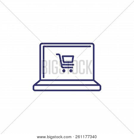 Online Shopping Line Icon. Order Online, Food Delivery, E-commerce. Shopping Concept. Vector Illustr