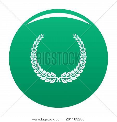 Leader Wreath Icon. Simple Illustration Of Leader Wreath Vector Icon For Any Design Green