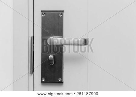 Home Door Stainless Steel Handle Lever Lock Solid Strong