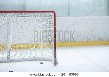 Detail Ice Hockey Red Empty Training Net