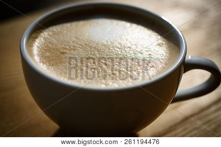Fresh Coffee. Perfect Morning With Americano Or Espresso . Fresh Morning Drink With Milk And Cream F