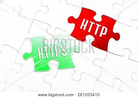 The Words Https And Http In A Missing Piece Jigsaw Puzzle
