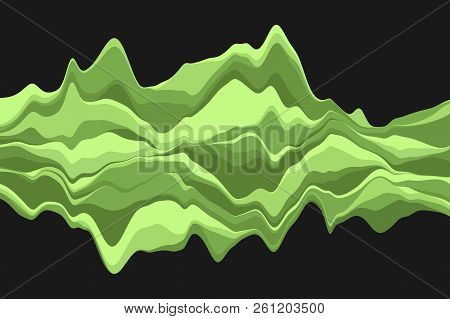 Dynamic Abstract Background With Color Waves. Vector Illustration.