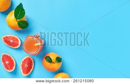 Composition Of Ripe Grapefruit And Grapefruit Juice With Copy Sp