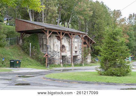 Rockport, Maine, Usa - September 19, 2018: Preserved Lime Kilns From 1890s At Rockport Marine Park