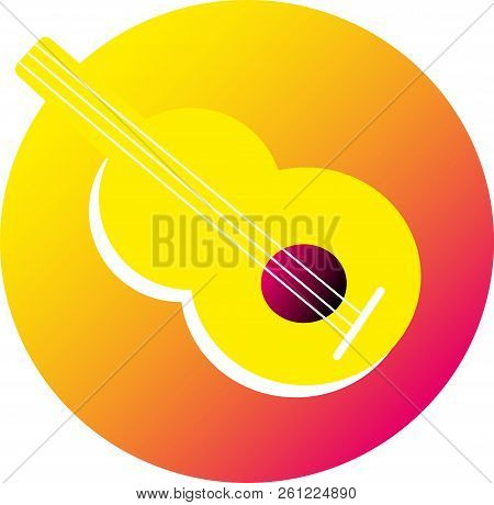 Icon Guitar.   Illustration Of Iconic Guitar, Musical Instrument Icon.