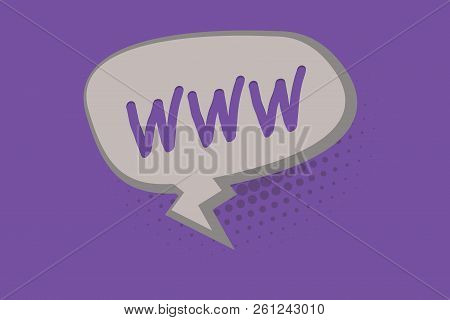 Handwriting Text Www. Concept Meaning Network Of Online Content Formatted In Html And Accessed Via H