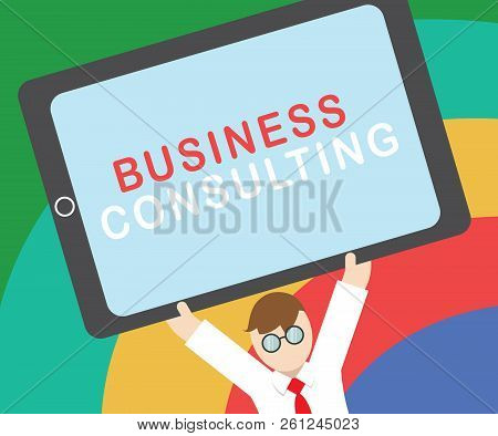 Text Sign Showing Business Consulting. Conceptual Photo Blends Practice Of Academic Theoretical Expe
