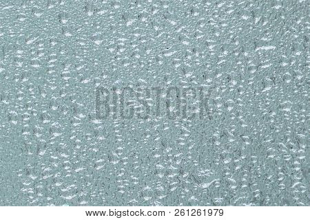 Background from water on window