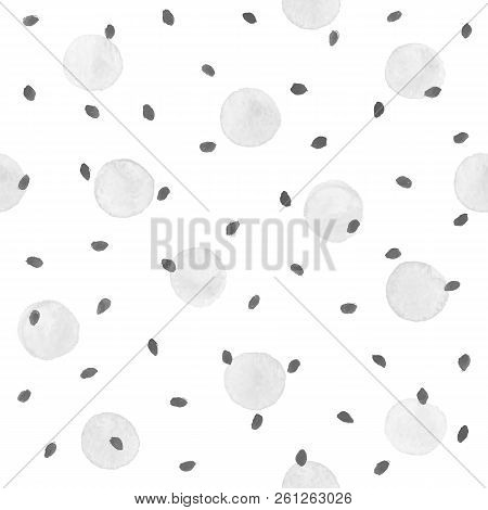 Watercolor Texture. Aquarelle Spots Hand Drawn With Dry Brush. Seamless Pattern. Watercolor Pattern