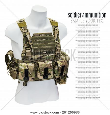 modern handling system soldier, a bulletproof vest poster