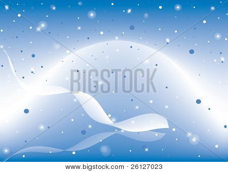 abstract blue background with glowing stars