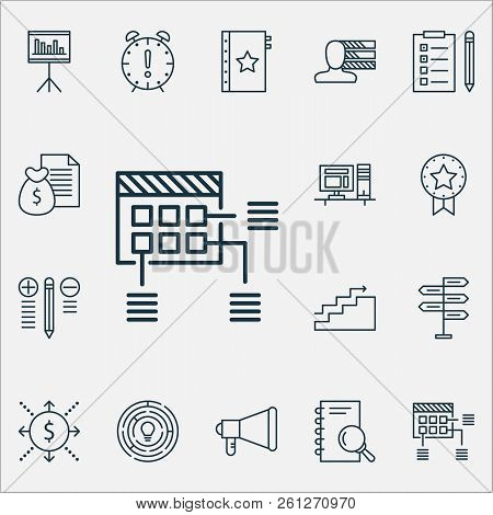 Project Icons Set With Project Planning, Cash Flow, Best Solution And Other Decision Making Elements