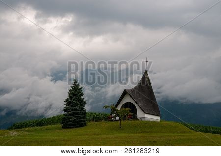 A Modern Church In The Northern Austrian Coutry Side