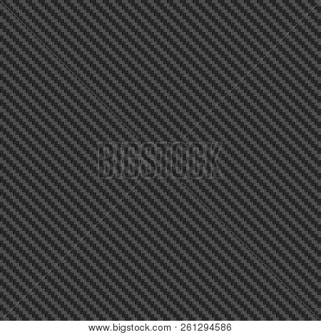 Seamless Carbon Texture Or Background. Durable Carbon Fiber