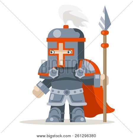 Guardian Lance Knight Spearman Fantasy Medieval Action Rpg Game Character Layered Animation Ready Ch