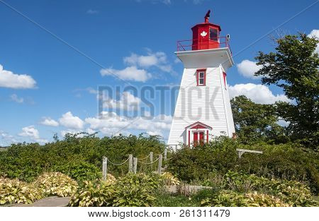 Victoria By The Sea Lighthouse In Prince Edward Island Canada