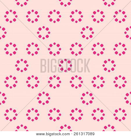 Simple Pink Floral Vector Photo Free Trial Bigstock