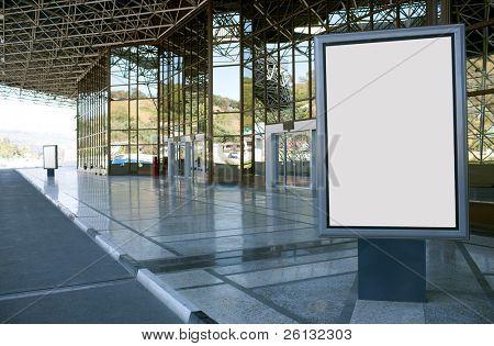 Modern empty advertising billboard