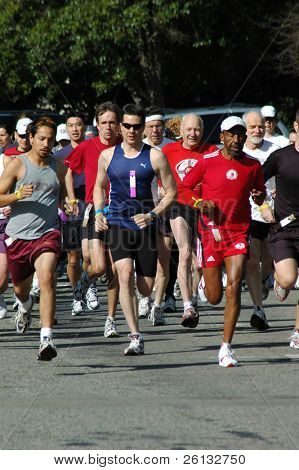 Amateur runners in a race