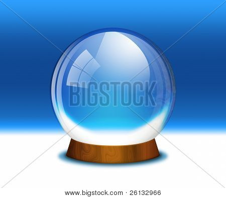 Empty snow globe (crystal sphere)