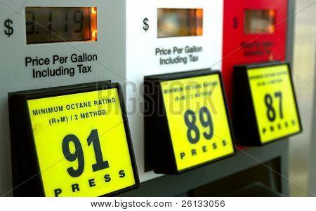 Precios de la gasolina en la bomba