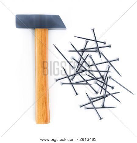Hammer Tool And Nails