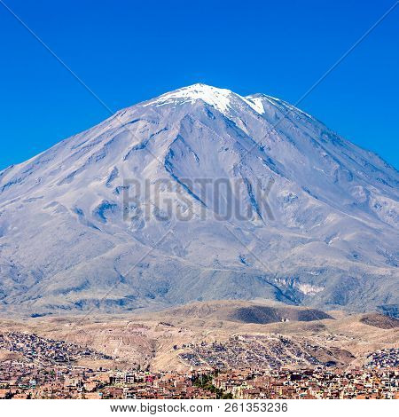 Misti, Also Known As Putina Is A Stratovolcano Located In Arequipa, Peru