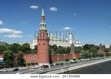 View Of The Kremlin From The Moscow River. Russia Moscow