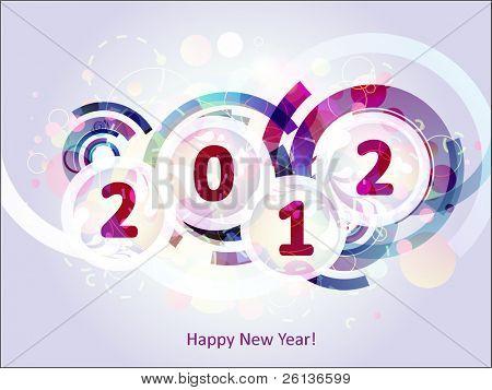 Gelukkig nieuw jaar 2012 abstracte achtergrond