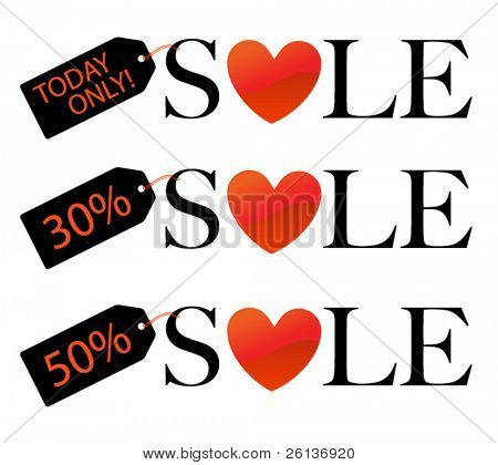 Sale with Heart and Tags