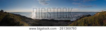 Giants Stairs Sunrise Panorama - Bailey Island, Maine, Usa