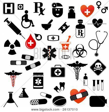 Large Set of Medical Symbols