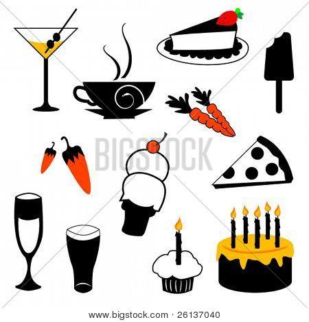 Set of Food items