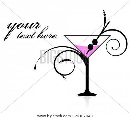 Elegant Martini Invitation