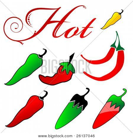 Group of Hot Peppers and Capital H