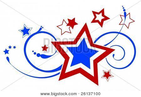 Patriotic Ornate Star Decoration - Fireworks
