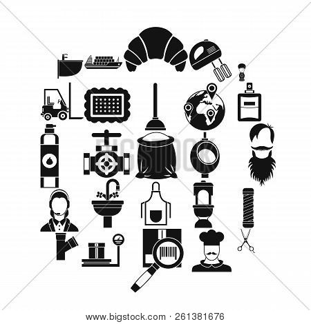 Service Staff Icons Set. Simple Set Of 25 Service Staff Vector Icons For Web Isolated On White Backg