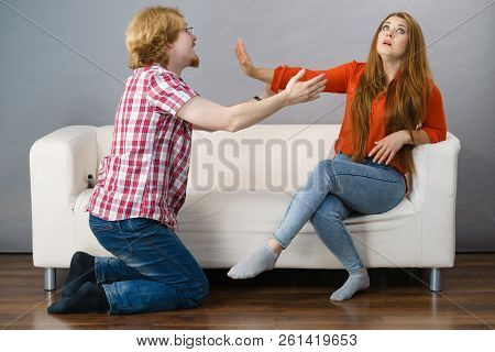 Man Begging For Forgiveness His Woman
